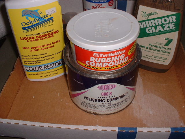 Products used for final polishing of gelcoat